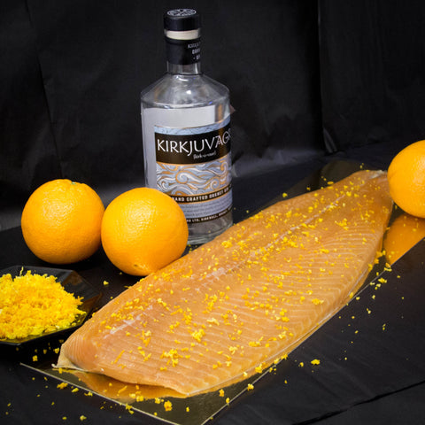 Kirkjuvagr Gin & Orange Smoked Salmon Sliced Side