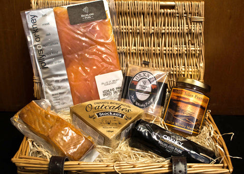 Whisky Lovers Orkney Hamper - Small - Orkney Hampers - Jollys of Orkney