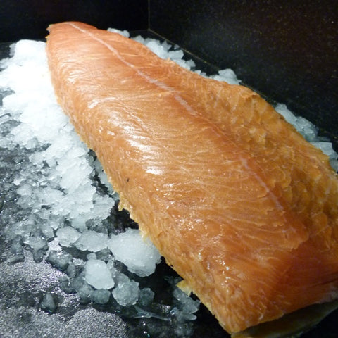 Organic Smoked Salmon - Side - Organic Smoked Salmon - Jollys of Orkney - 1