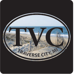 TVC Traverse City Beach Sm Euro Decal