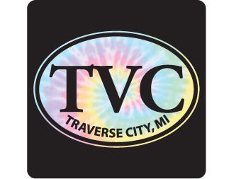 Pastel Tie Die Euro Traverse City Lg Decal
