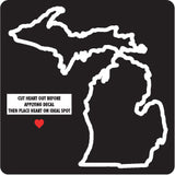 Hollow Mi Moveable Heart Lg Decal