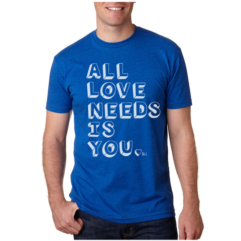 All Love Needs Is You Tee - Blue