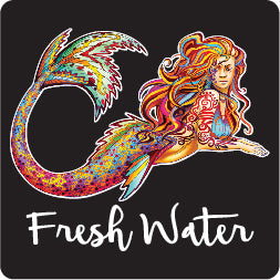 Free Style Mermaid Lg Decal