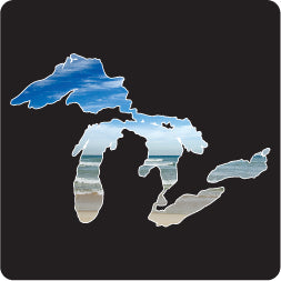 Surf Great Lakes Lg Decal
