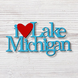 "MI Magnet - I ""Heart"" Lake Michigan"
