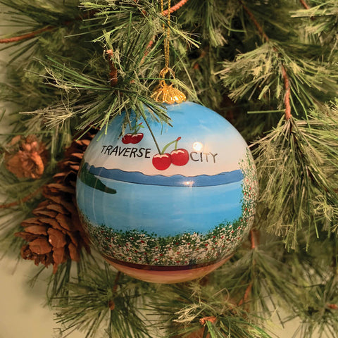 Hand-Painted Traverse City Ornamanet
