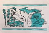 Vintage Style Flour Sack Towel - Michigan