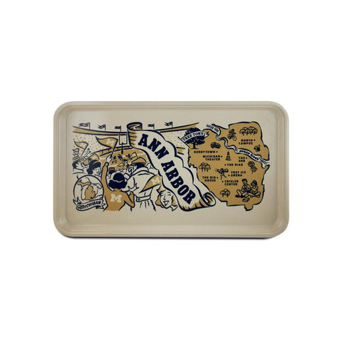 Vintage Style Serving Tray - Ann Arbor