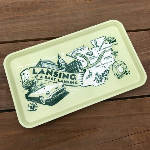 Vintage Style Serving Tray - East Lansing