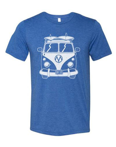 Unisex Tee - VW Bus Blue