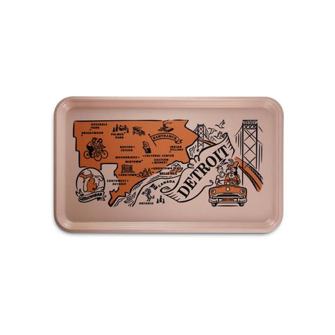 Vintage Style Serving Tray - Detroit