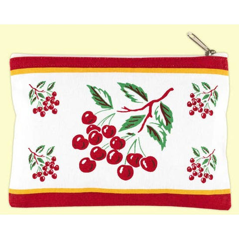 Cherry Canvas Pouch