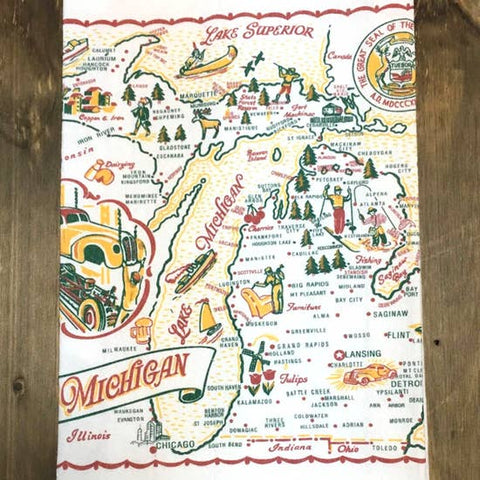Souvenir Map Towel Sm