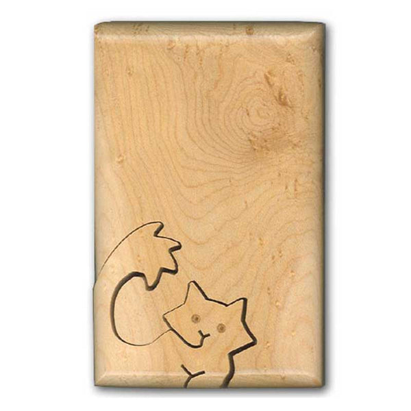 Cat With Fluffy Tail Key Puzzle Box