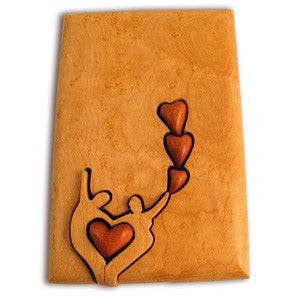 Dancing Lovers & Hearts Key Puzzle Box