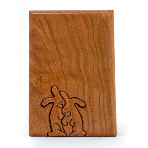 Rabbit Couple Key Puzzle box
