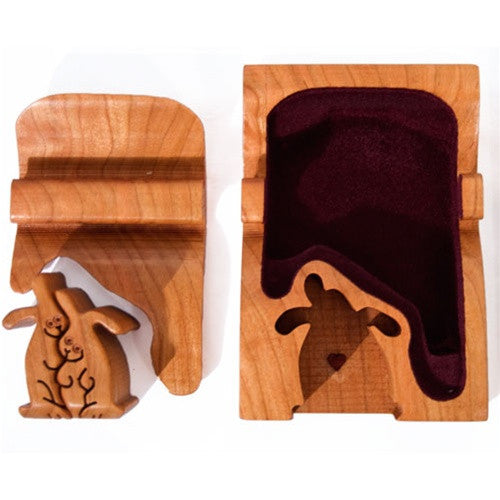 Rabbit Couple Key Puzzle box - Boxology