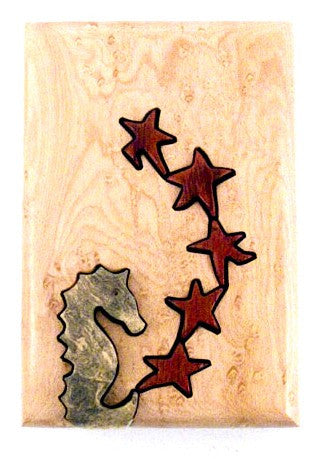Seahorse Star Dancer Key Puzzle Box - Boxology