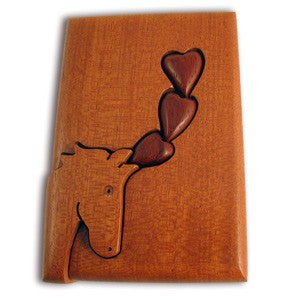 Horse Head & Hearts Key Puzzle Box - Boxology