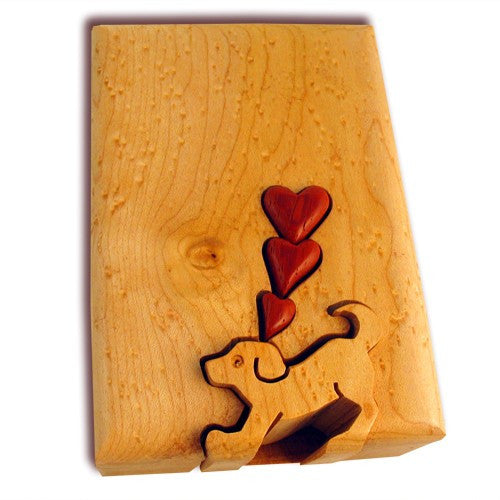 Puppy Love Key Puzzle Box