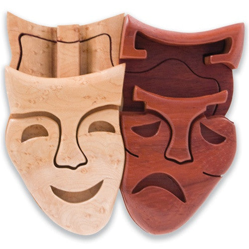 Large Comedy/Tragedy Puzzle Box