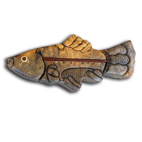 Large Trout Puzzle Box