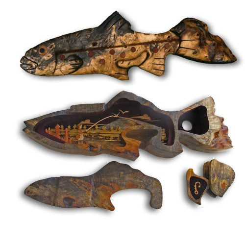 Gone Fishing Trout Puzzle Box