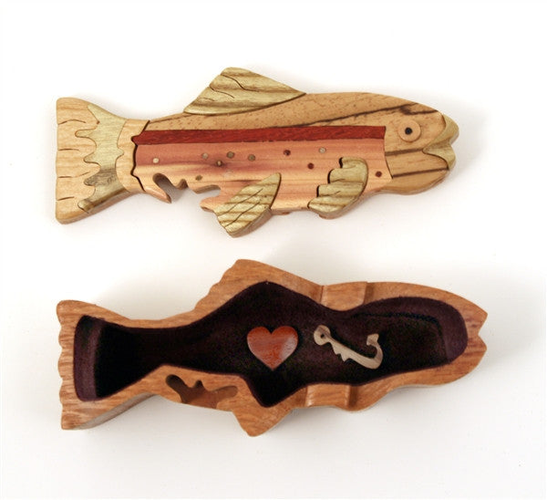 Small Trout Puzzle Box - Boxology