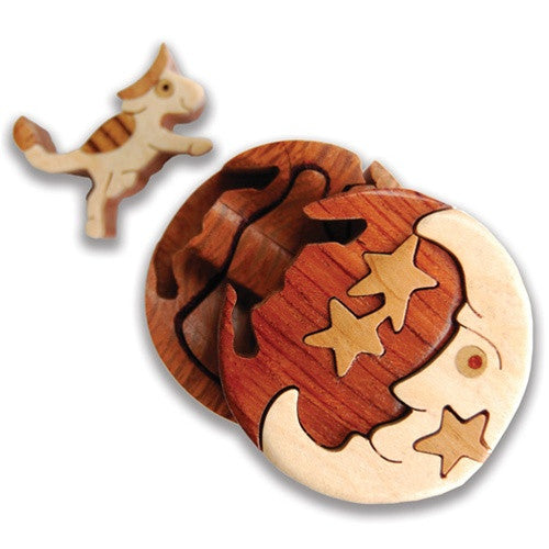 Cow Jumped Over The Moon Miniature Puzzle Box - Boxology