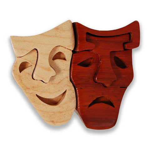 Comedy/Tragedy Mask Miniature Puzzle Box