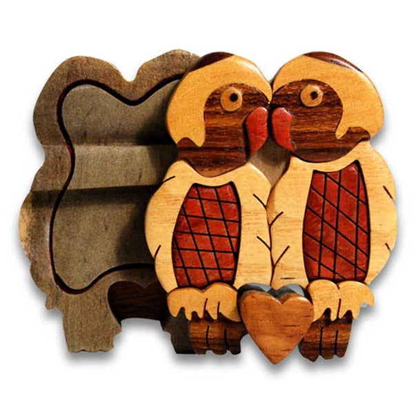 Love Birds Miniature Puzzle Box - Boxology