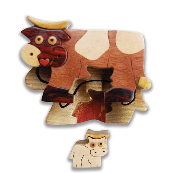 Cow Miniature Puzzle Box