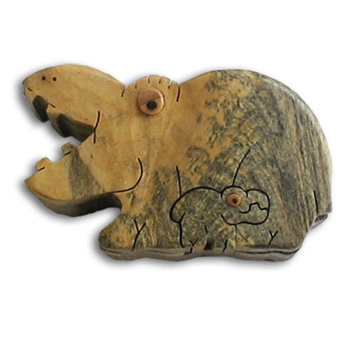 Hippo Miniature Puzzle box