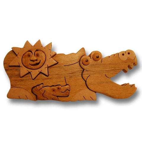 Alligator Miniature Puzzle Box