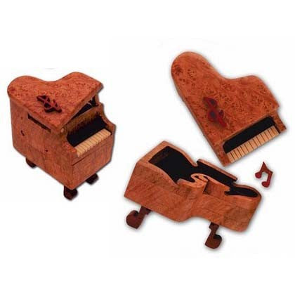 Baby Grand Piano Miniature Puzzle Box - Boxology