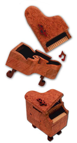 Baby Grand Piano Miniature Puzzle Box