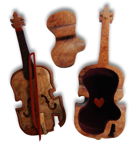 Violin Miniature Puzzle Box - Boxology