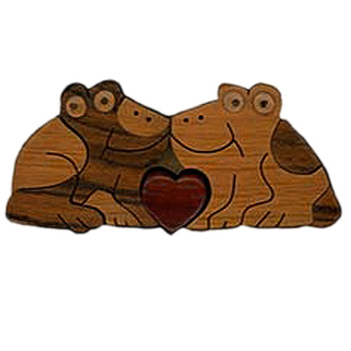 Frogs Kissing Miniature Puzzle Box