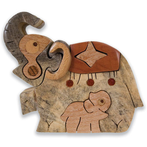 Elephant at the Circus Miniature Puzzle Box
