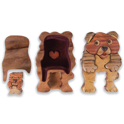 Teddy Bear Miniature Puzzle Box - Boxology