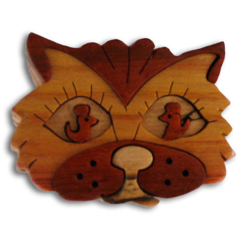 Cat Face Miniature Puzzle Box