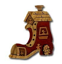 Woman in the Shoe Miniature Puzzle Box - Boxology