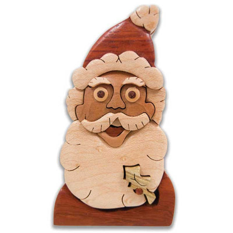 Jolly Santa Face Miniature Puzzle Box