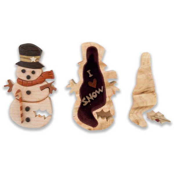 Snowman Miniature Puzzle box - Boxology