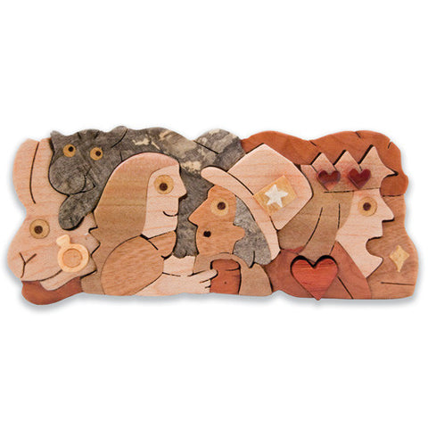 Alice in Wonderland Miniature Puzzle Box