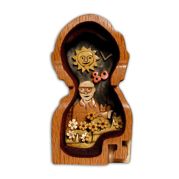 Miniature Personalized Portrait Puzzle Box