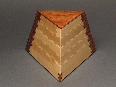 Trapezoid Jewelry Box with Secret Compartment