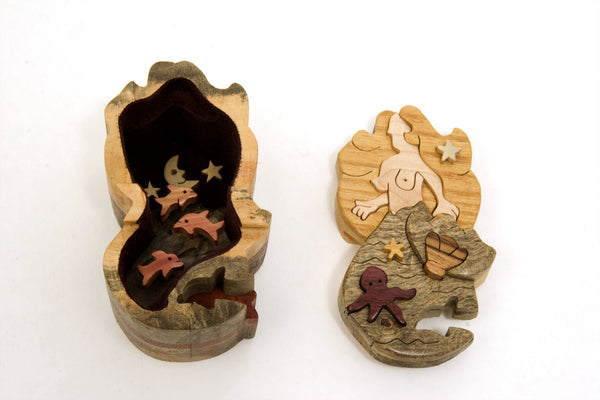 Mermaid Miniature Puzzle Box