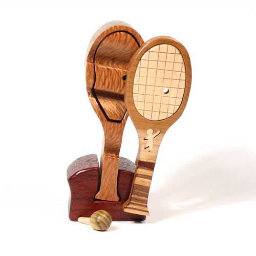 Tennis Racquet Miniature Puzzle Box
